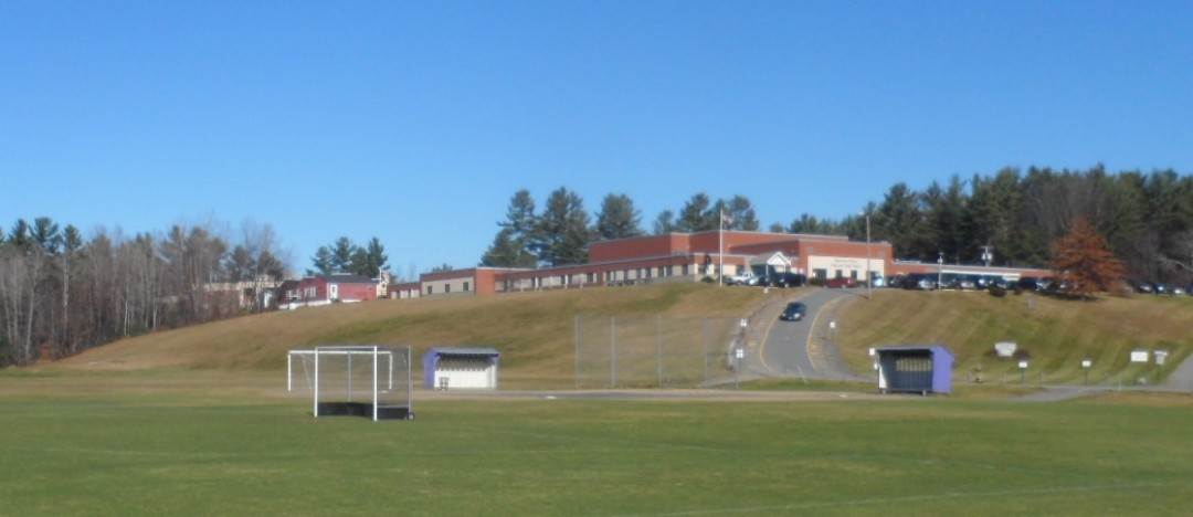 Mascoma High School and Indian River Middle School both sit on a knoll above a variety of playing fields.