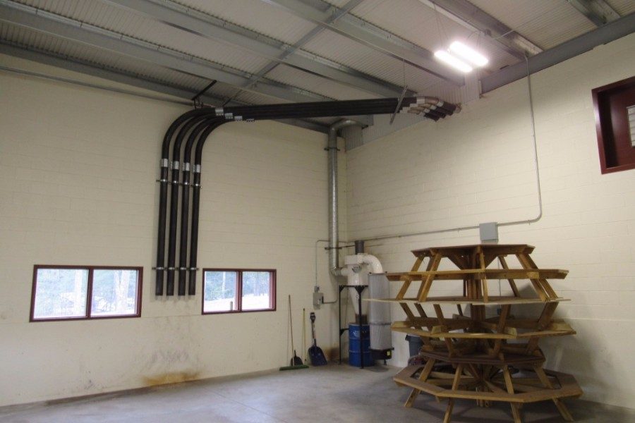 fill pipes in ceiling
