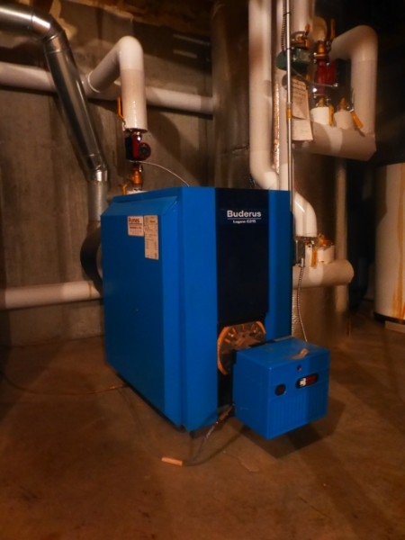 oil boiler in home basement
