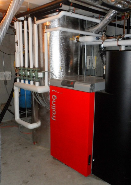 Residential pellet boilers don't burn as much fuel as big commercial boilers, but they still require some regular attention.