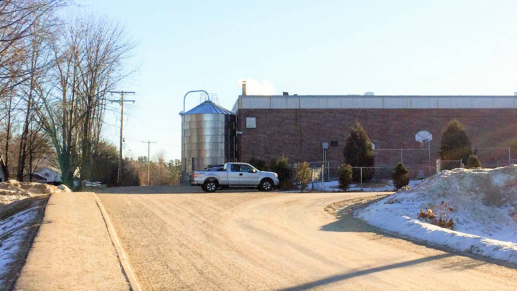 wood chip silo at conant high school