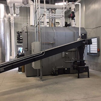 large capacity green chip boiler