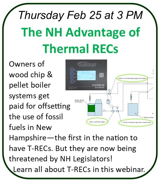 Feb 25 Webinar on NH Thermal RECs